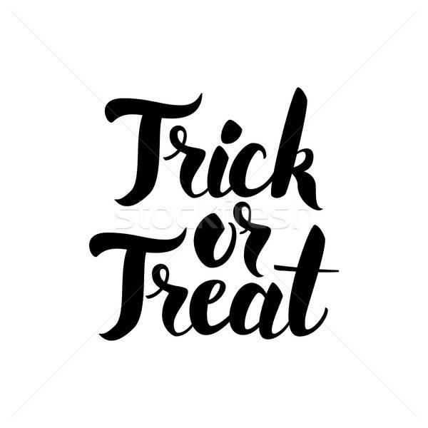 Trick or Treat Handwritten Card Stock photo © Anna_leni