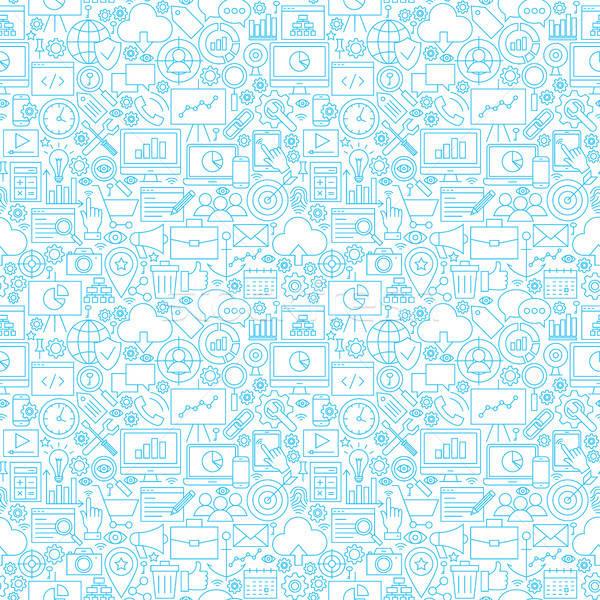 Line Development White Tile Pattern Stock photo © Anna_leni