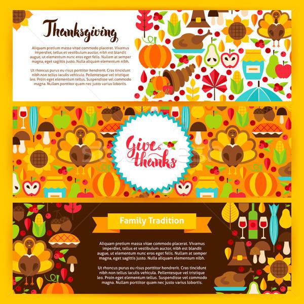 Thanksgiving Horizontal Banners Stock photo © Anna_leni