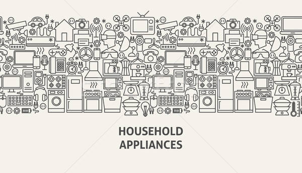 Household Appliances Banner Concept Stock photo © Anna_leni