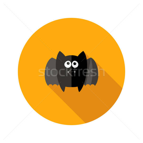 Halloween bat icon gelukkig vleugels cartoon Stockfoto © Anna_leni