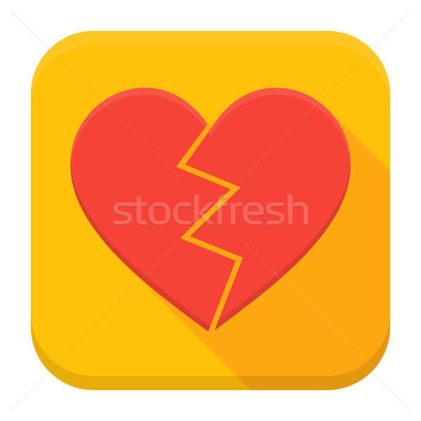 Crash heart app icon with long shadow Stock photo © Anna_leni