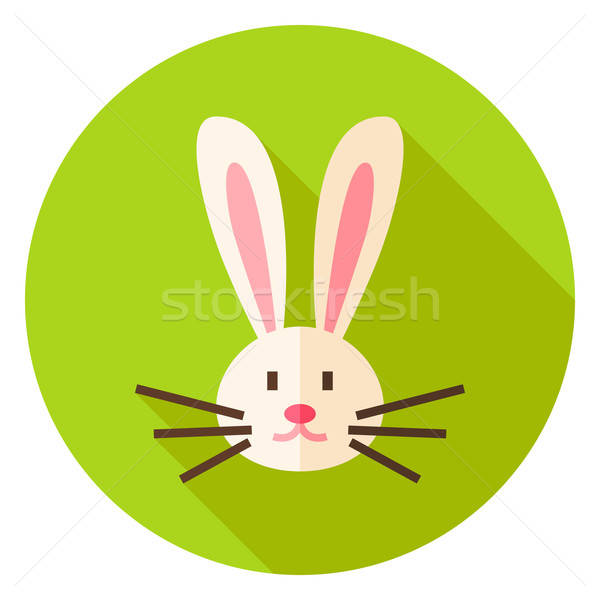 Rabbit Face Circle Icon Stock photo © Anna_leni