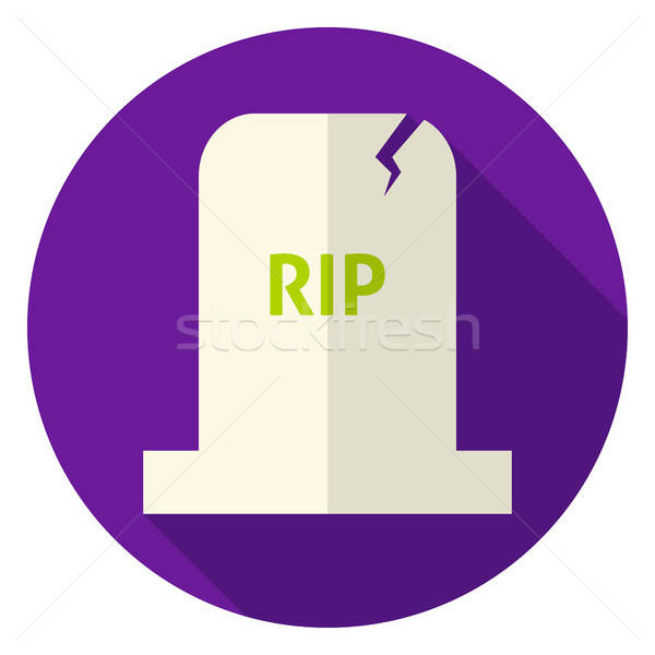RIP Tombstone Circle Icon Stock photo © Anna_leni