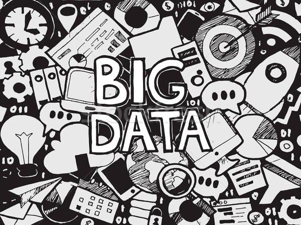 Big Data Sketch Doodle Stock photo © Anna_leni