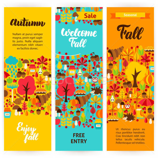 Outono vertical marca identidade Foto stock © Anna_leni