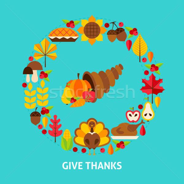 Give Thanks Postcard Stock photo © Anna_leni