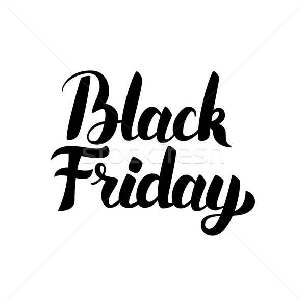 Black Friday Handwritten Lettering Stock photo © Anna_leni