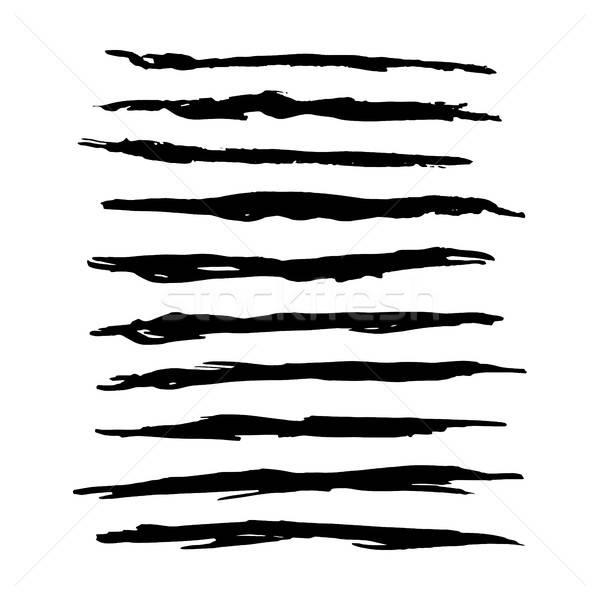 Hand Drawn Grunge Brush Strokes vector illustration © Ganna