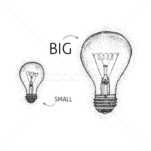 Big Small Lightbulbs Dotwork Stock photo © Anna_leni