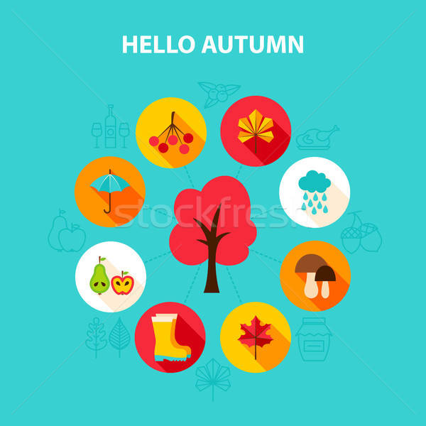 Concept Hello Autumn Stock photo © Anna_leni