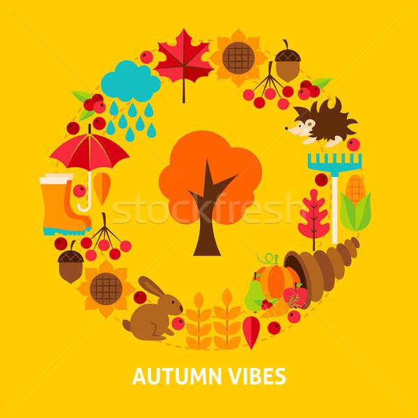 Autumn Vibes Postcard Stock photo © Anna_leni