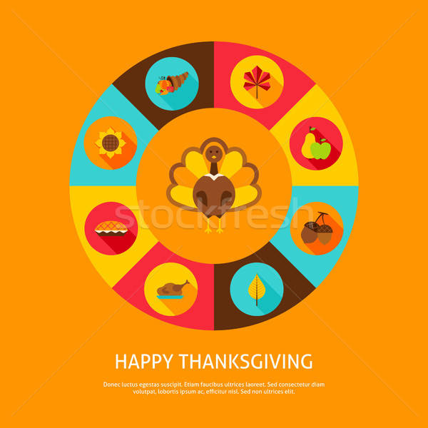 Happy Thanksgiving Concept Stock photo © Anna_leni