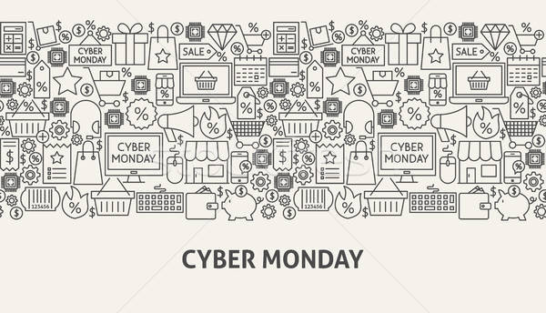 Cyber Monday Banner Concept Stock photo © Anna_leni