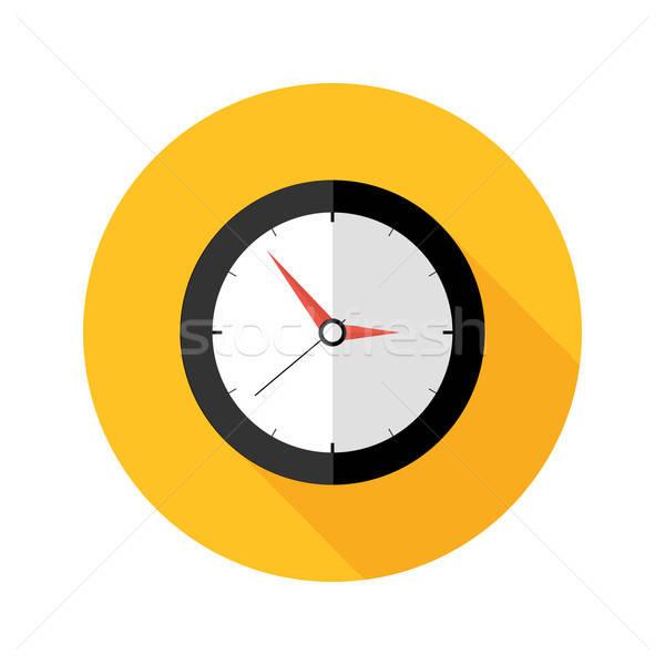 Fecha tope reloj círculo icono ilustración oficina Foto stock © Anna_leni