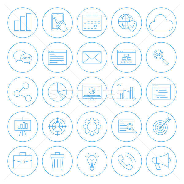 Line Circle Website Development Icons Stock photo © Anna_leni