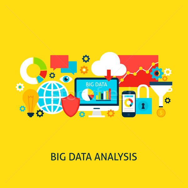 Big Data Analysis Vector Concept Stock photo © Anna_leni
