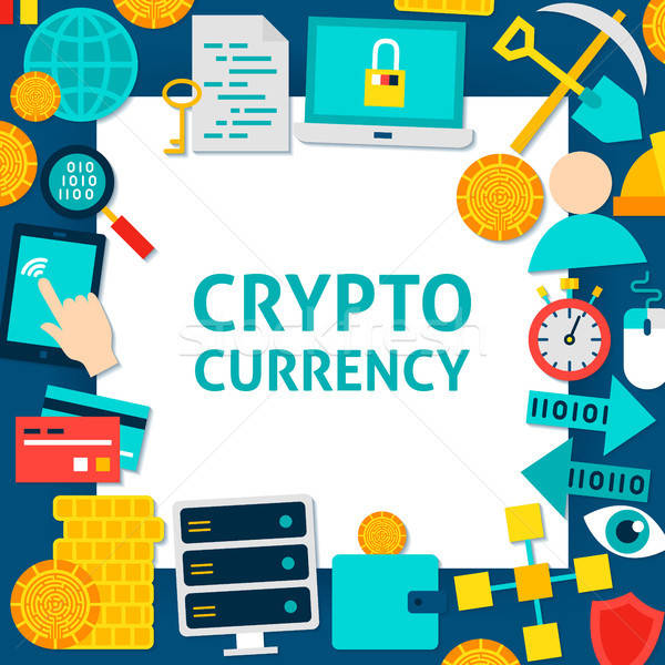 Cryptocurrency Paper Template Stock photo © Anna_leni