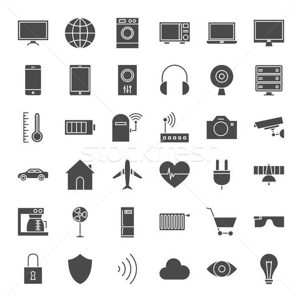 Iot Solid Web Icons Stock photo © Anna_leni