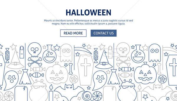 Foto d'archivio: Halloween · banner · design · line · web · party