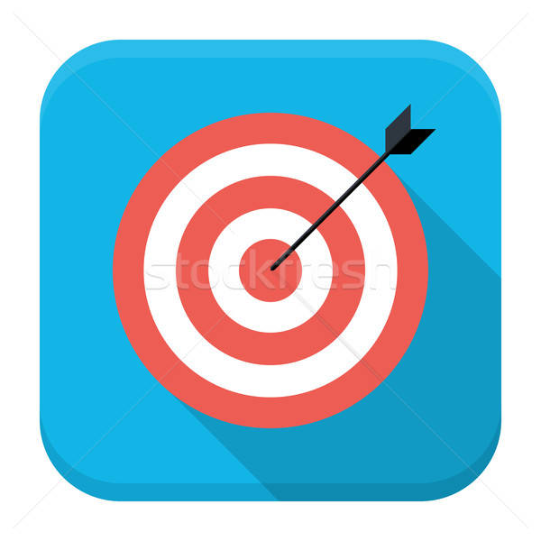 Target with arrow flat app icon with long shadow Stock photo © Anna_leni