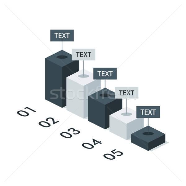 üzlet izometrikus infografika diagram sablon elrendezés Stock fotó © Anna_leni