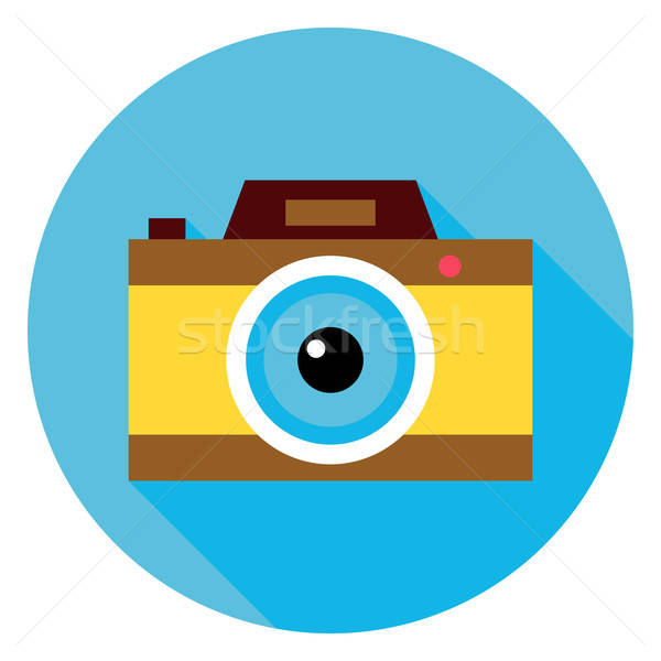 Stockfoto: Foto · camera · cirkel · icon · ontwerp · lang