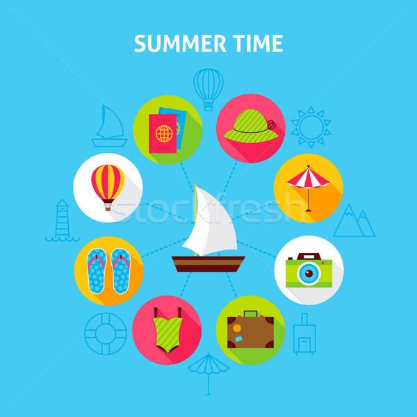 Concept Summer Time Stock photo © Anna_leni