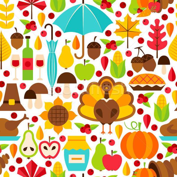 Thanksgiving Day Seamless Pattern Stock photo © Anna_leni