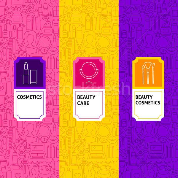 Line kosmetyki pakiet szablon opakowań Zdjęcia stock © Anna_leni