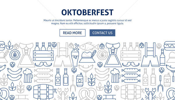 Oktoberfest Banner Design Stock photo © Anna_leni