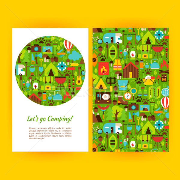 Lets Go Camping Flyer Template Stock photo © Anna_leni