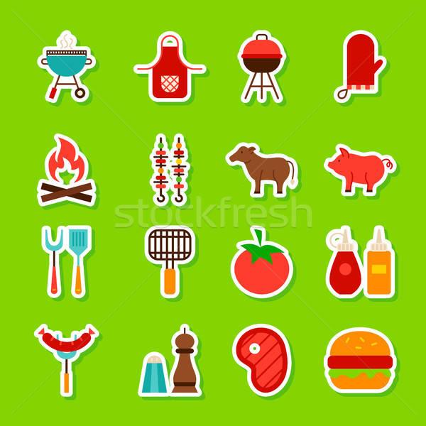 Сток-фото: барбекю · продовольствие · стиль · коллекция · барбекю
