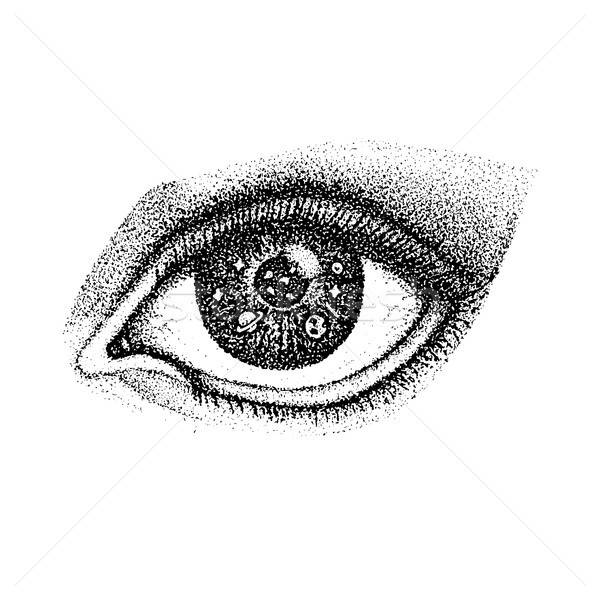 Dotwork Eye with Space Stock photo © Anna_leni