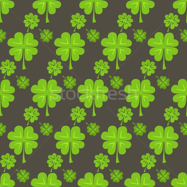 Dia verde trevo cartão padrão Foto stock © Anna_leni