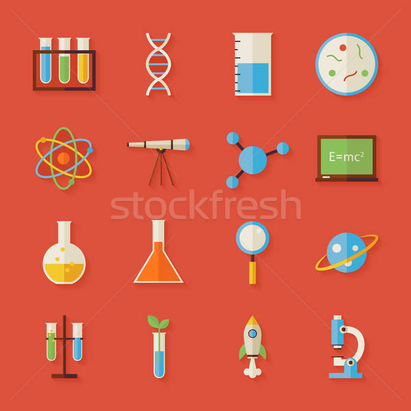 Science éducation objets ombre style Photo stock © Anna_leni
