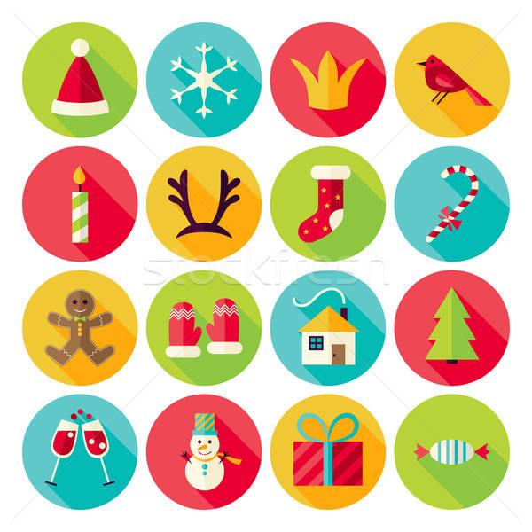 Stockfoto: Nieuwjaar · vrolijk · christmas · cirkel · lang