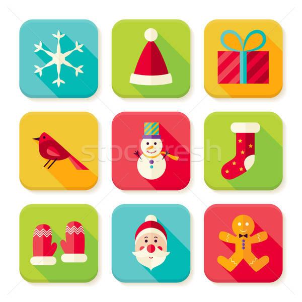 Сток-фото: Новый · год · веселый · Рождества · квадратный · приложение