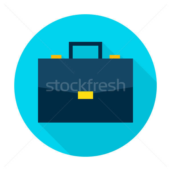 Business Briefcase Flat Circle Icon Stock photo © Anna_leni