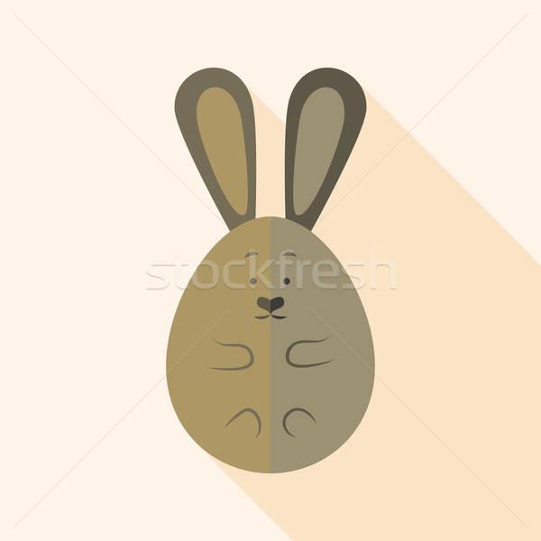 Easter rabbit egg shaped Stock photo © Anna_leni