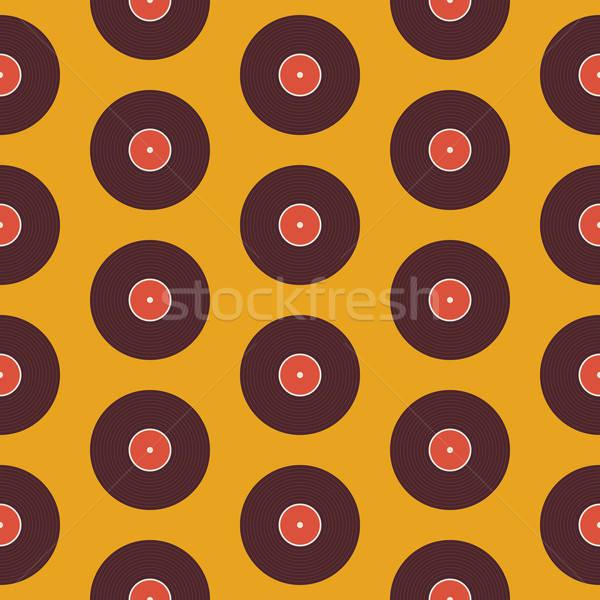 Müzik vinil disk sarı model Stok fotoğraf © Anna_leni