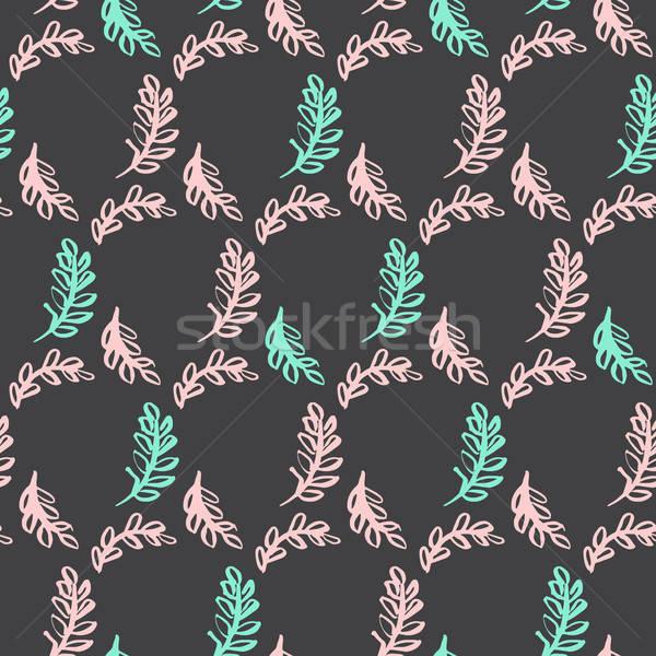 Spring Leaf Seamless Pattern Stock photo © Anna_leni