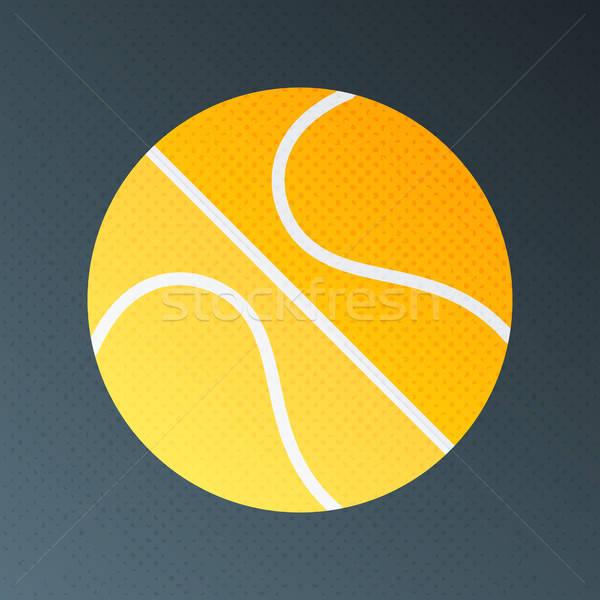 Basket en demi-teinte stylisé illustration signe texture Photo stock © Anna_leni