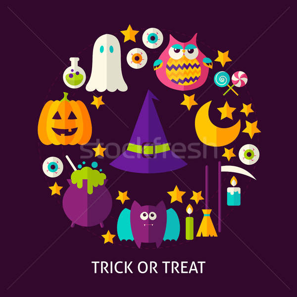 Trick or Treat Greeting Card Stock photo © Anna_leni