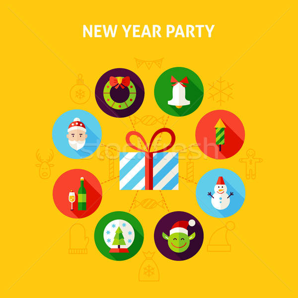 New Year Party Infographic Stock photo © Anna_leni