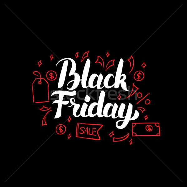 Black friday affiche Shopping vente rouge Photo stock © Anna_leni
