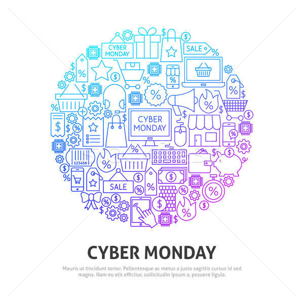Cyber Monday Circle Concept Stock photo © Anna_leni