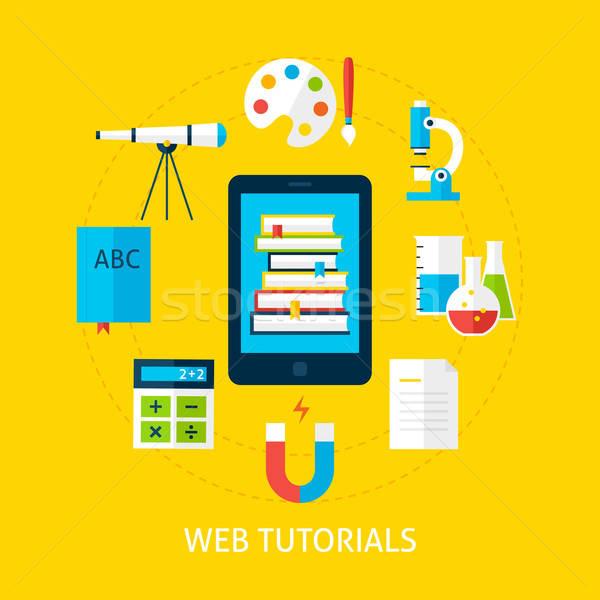 Web hizmet dizayn çevrimiçi eğitim okul Stok fotoğraf © Anna_leni