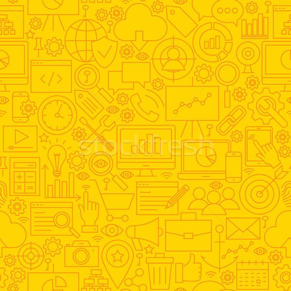 Seo sarı hat karo model Stok fotoğraf © Anna_leni