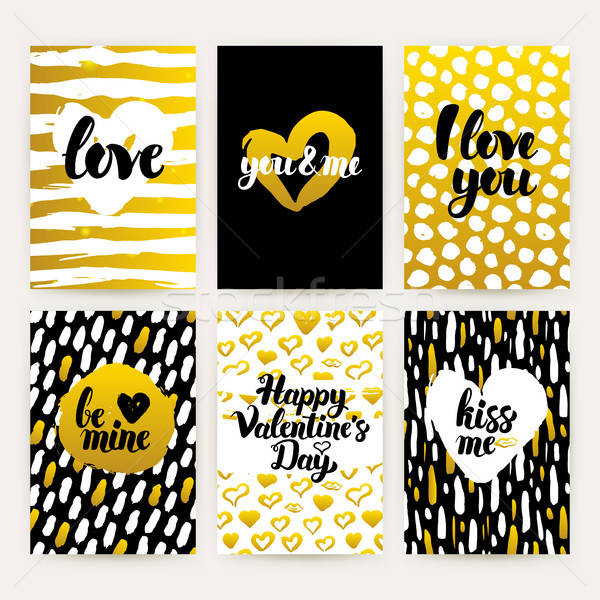 Valentines Day Trendy Brochures Stock photo © Anna_leni